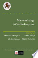 Macromarketing A Canadian Perspective