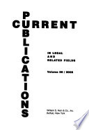 Current Publications in Legal and Related Fields  , Band 56