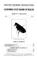 Monthly Bulletin California State Board Of Health V 6 1910 11