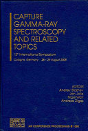 Capture Gamma Ray Spectroscopy and Related Topics Book
