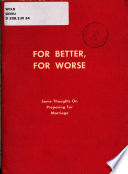 For Better For Worse Book PDF