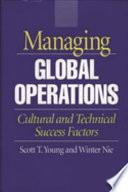 Managing Global Operations Book