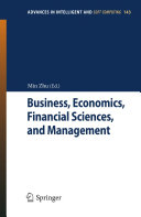 Business, Economics, Financial Sciences, and Management