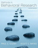 Methods in Behavioral Research Book