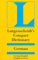 Langenscheidt, compact German dictionary
