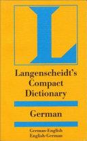 Langenscheidt  compact German dictionary