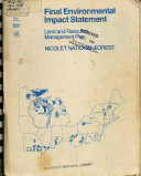 Final Environmental Impact Statement  the Nicolet National Forest Book PDF