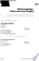 Otolaryngology--head and Neck Surgery