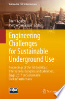 Engineering Challenges for Sustainable Underground Use Book