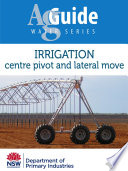 Irrigation: Centre pivot and lateral move