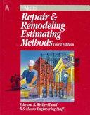 Means Repair   Remodeling Estimating Methods