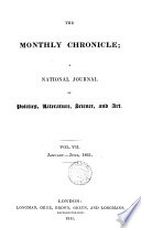 The Monthly chronicle  a national journal