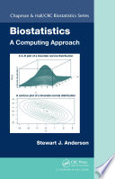 Biostatistics  A Computing Approach