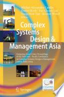 Complex Systems Design & Management Asia