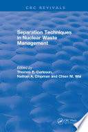 Separation Techniques in Nuclear Waste Management  1995