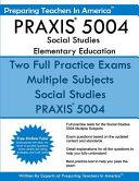 Praxis 5004 Social Studies Elementary Education Book