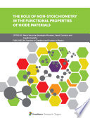 The Role of Non-Stoichiometry in the Functional Properties of Oxide Materials