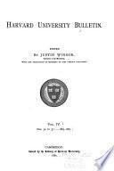 Harvard University Bulletin Book