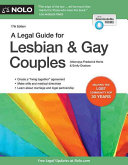 A Legal Guide for Lesbian   Gay Couples