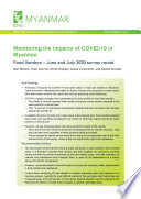 Monitoring the impacts of COVID 19 in Myanmar  Food vendors   June and July 2020 survey round Book