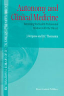 Autonomy and Clinical Medicine