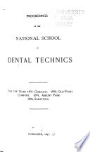 Proceedings of the National School of Dental Technics