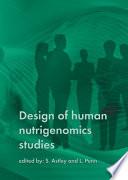 Design of human nutrigenomics studies