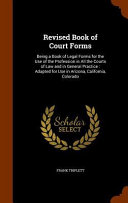 Revised Book Of Court Forms
