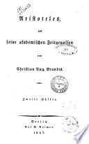 Handbuch der Geschichte der Griechisch-Römischen Philosophie von Christian Aug. Brandis