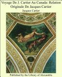Pdf Voyage De J. Cartier Au Canada: Relation Originale De Jacques Cartier Telecharger