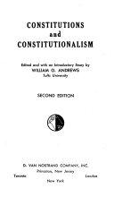 Constitutions And Constitutionalism