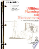 Utilities Planning and Management for Department of Energy Facilities