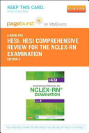 HESI Comprehensive Review for the NCLEX RN Examination   Pageburst E Book on VitalSource  Retail Access Card