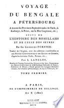 Voyage du Bengale à Pétersbourg à travers les provinces septentrionales de l'Inde, le Kachmyr, la Perse, sur la mer Caspienne, etc.