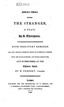 Acted Drama  The stranger