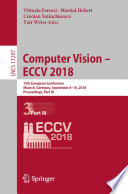 """Computer Vision – ECCV 2018: 15th European Conference, Munich, Germany, September 8–14, 2018, Proceedings, Part III"" by Vittorio Ferrari, Martial Hebert, Cristian Sminchisescu, Yair Weiss"