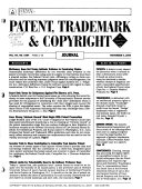 Bna S Patent Trademark Copyright Journal