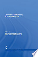 Governance for Harmony in Asia and Beyond Book