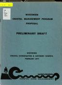 Wisconsin Coastal Management Program Proposal