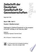 Zeitschrift der Deutschen Gesellschaft für Geowissenschaften