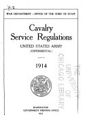 Cavalry Service Regulations  United States Army  experimental   1914