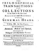 Philosophical Transactions to the Year ____ Abridged and Disposed Under General Heads ebook
