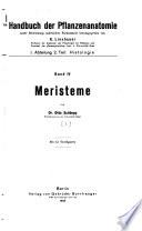 Handbuch der Pflanzenanatomie