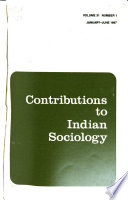 Contributions to Indian Sociology
