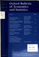 Oxford Bulletin of Economics and Statistics