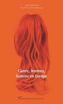 Genre, femmes, histoire en Europe Pdf/ePub eBook