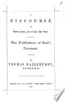 A Discourse On Psalm Lxxxix Part Of The 34th Verse The Faithfulness Of God S Covenant Book PDF
