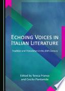 Echoing Voices in Italian Literature