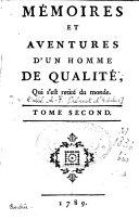 Mémoires et aventures d'un homme de qualité, qui s'est retiré du monde