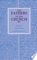 Selected Works The Fathers Of The Church Volume 95